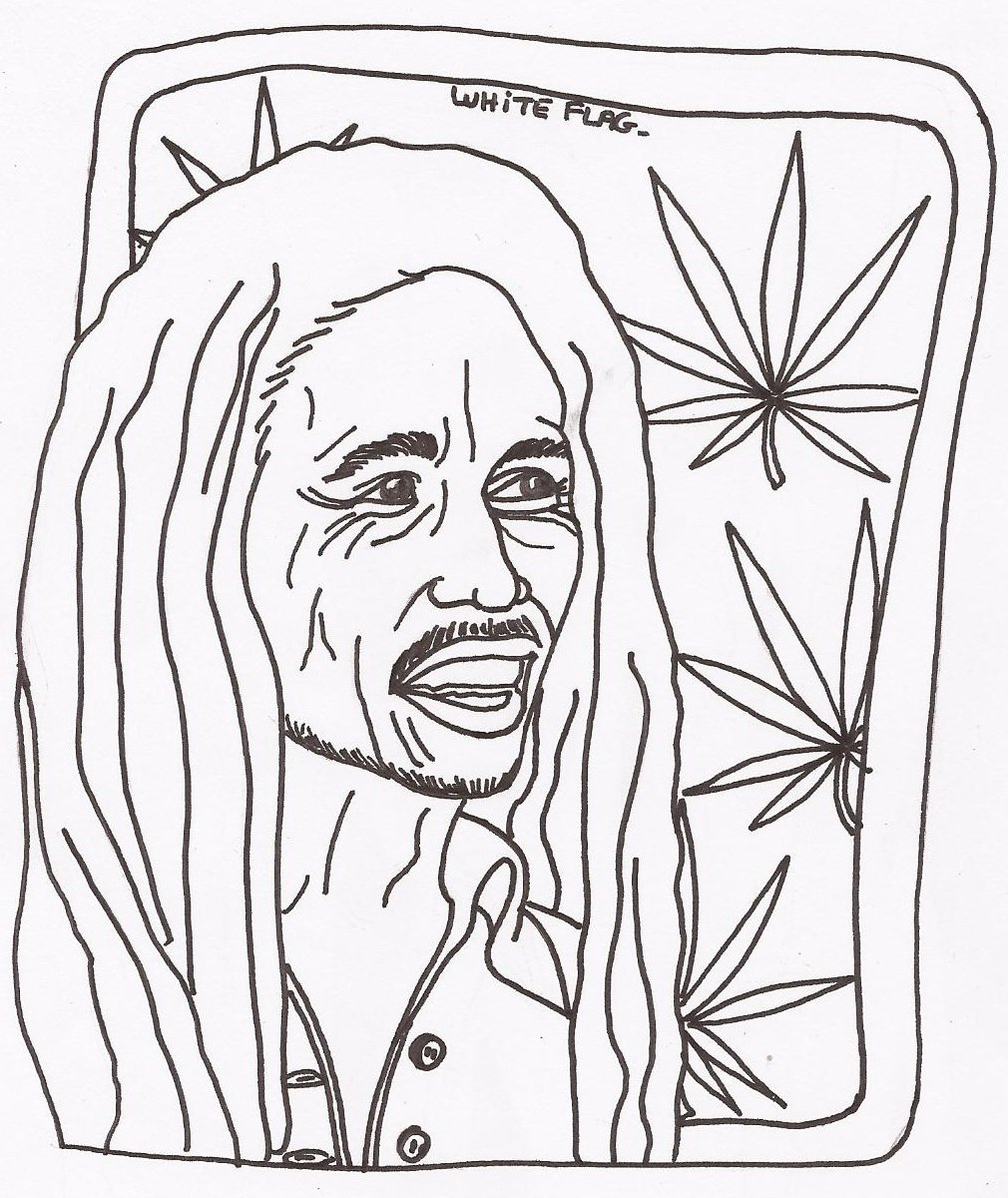 rasta coloring pages - bob marley coloring pages coloring pages